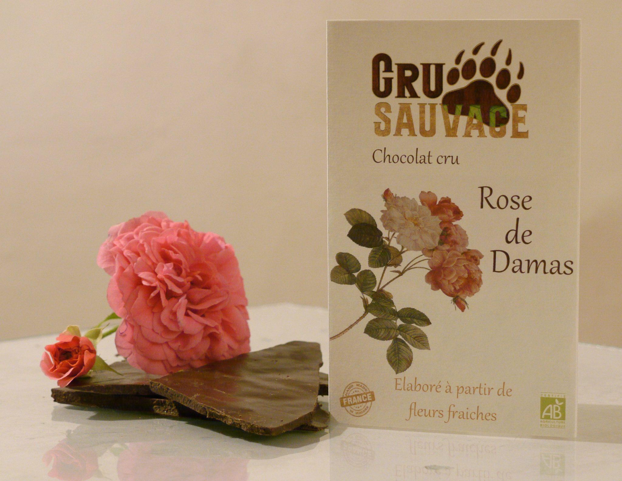 'cru sauvage' Rohschokolade Damaskus Rose