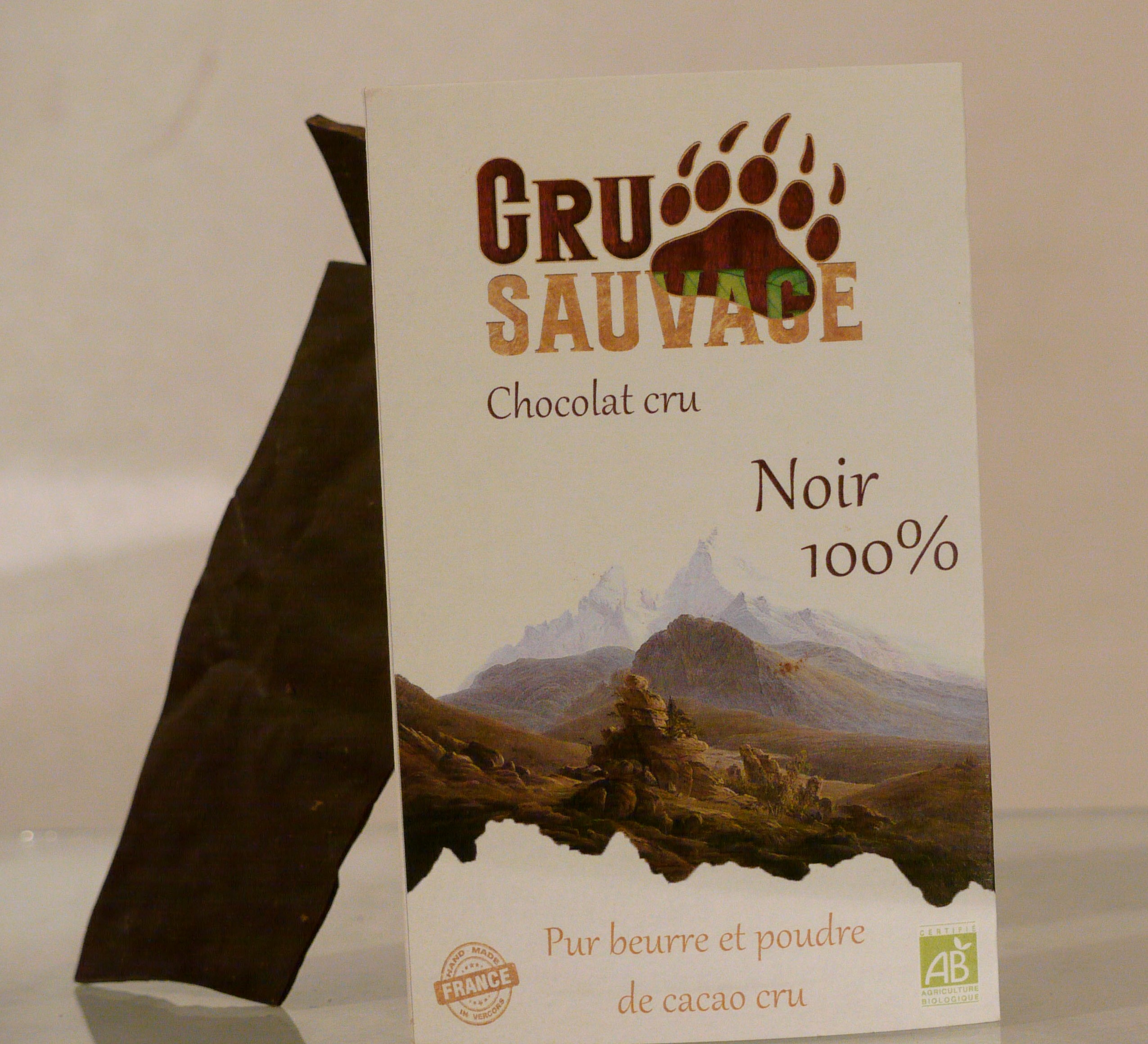 Raw chocolate cru sauvage 100% -2