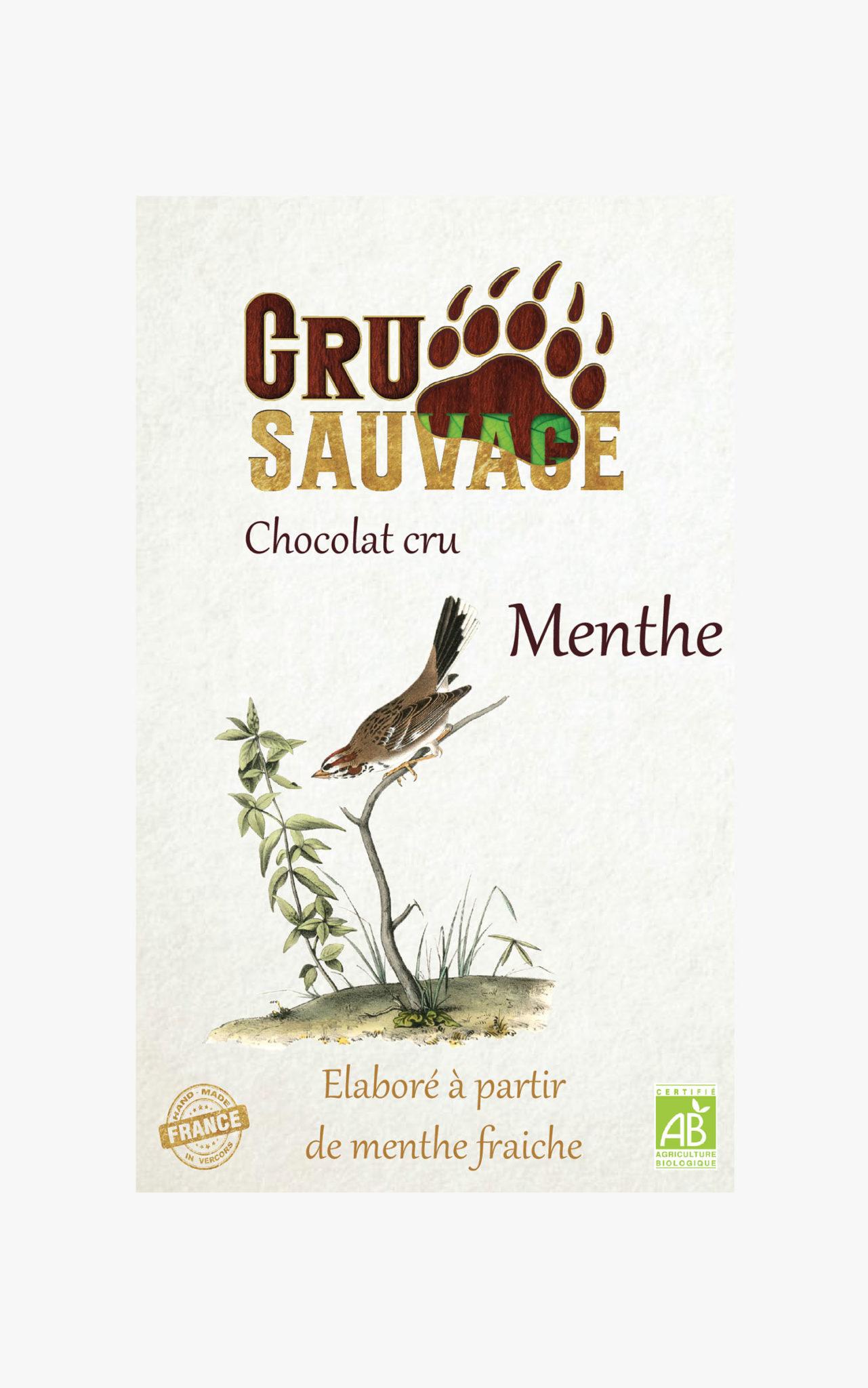Chocolat cru sauvage Menthe