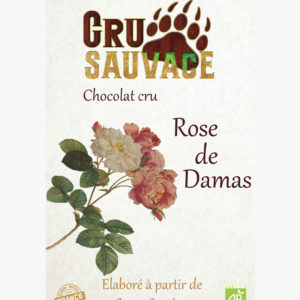 Chocolat cru sauvage Rose de Damas