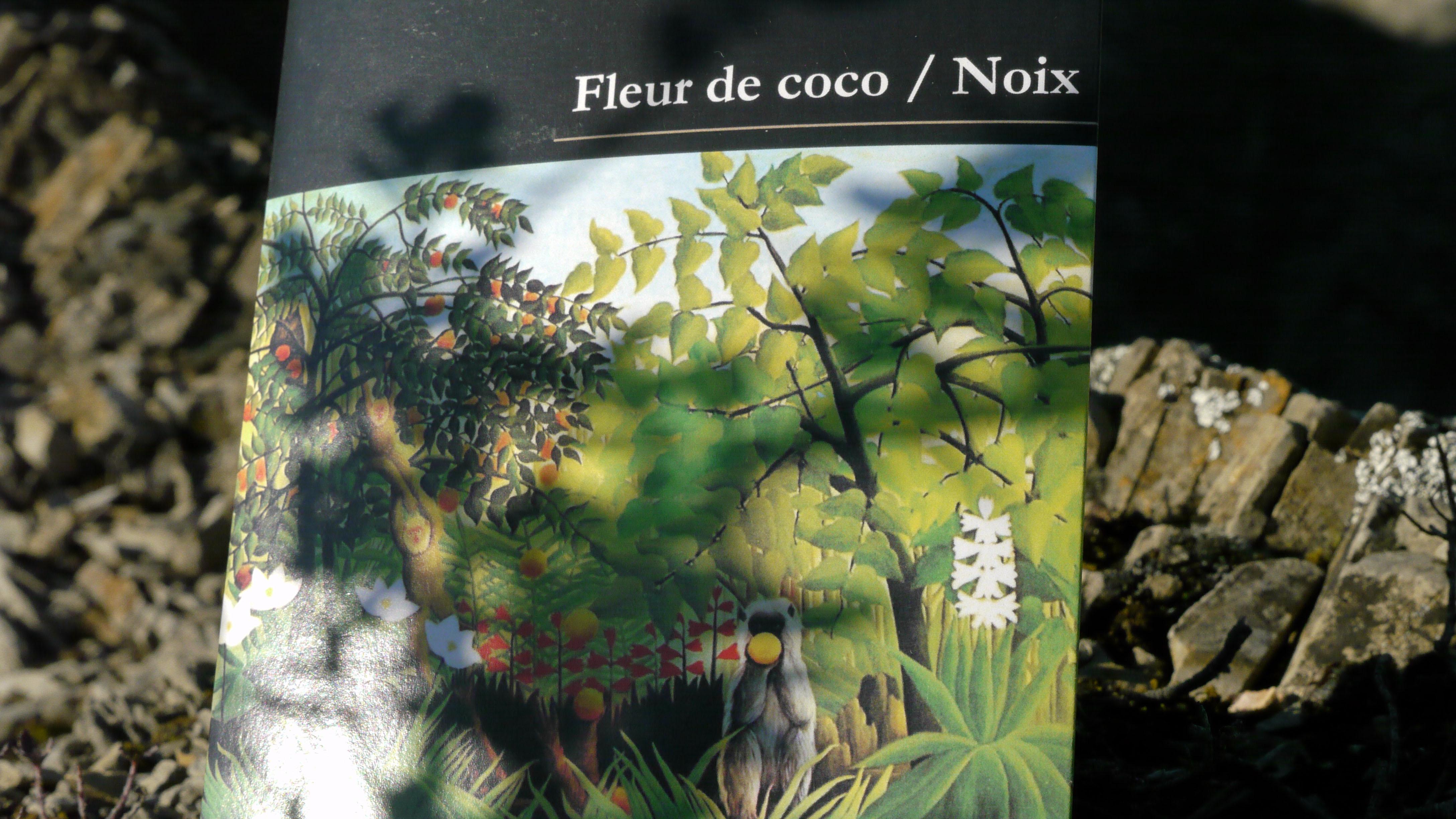 Rohschokolade 'Cru sauvage' Kokosnuss-Blume Walnüsse 2