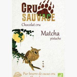 chocolat cru - Thé Matcha pistache